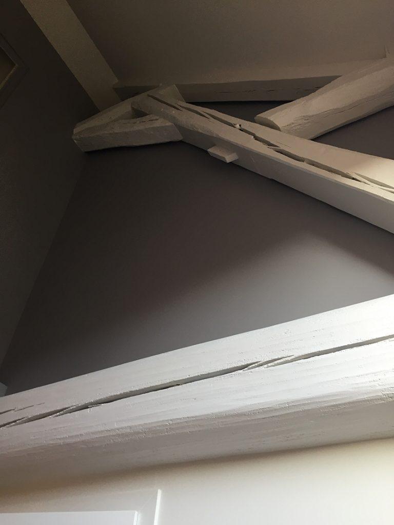 Cerusé poutre bois Dijon entreprise peinture artisan